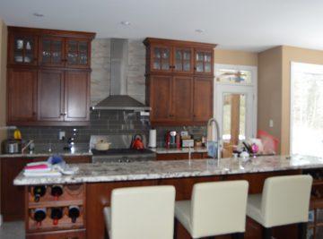 Kitchen Interior With Bar Stools
